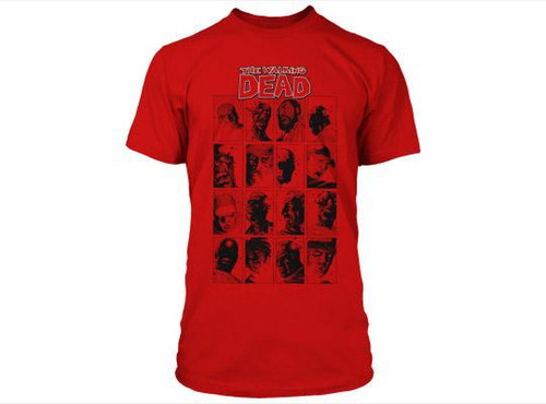 The Walking Dead Comic Faces T-Shirt [Small]