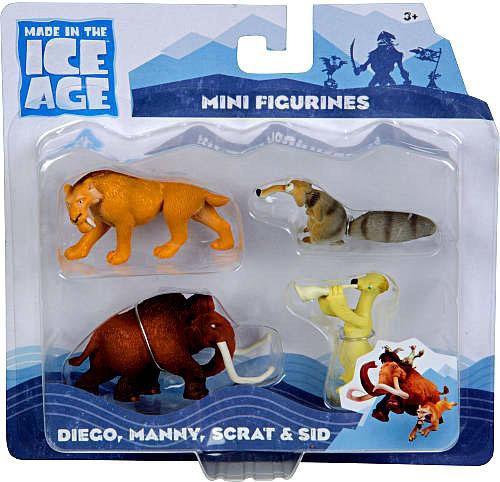 Ice Age Continental Drift Diego, Manny, Scrat & Sid Mini Figure 4-Pack