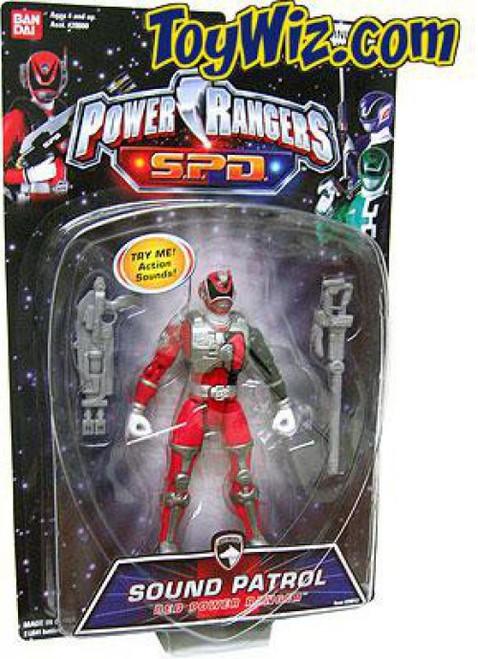 Power Rangers SPD Sound Patrol Red Power Ranger Action Figure