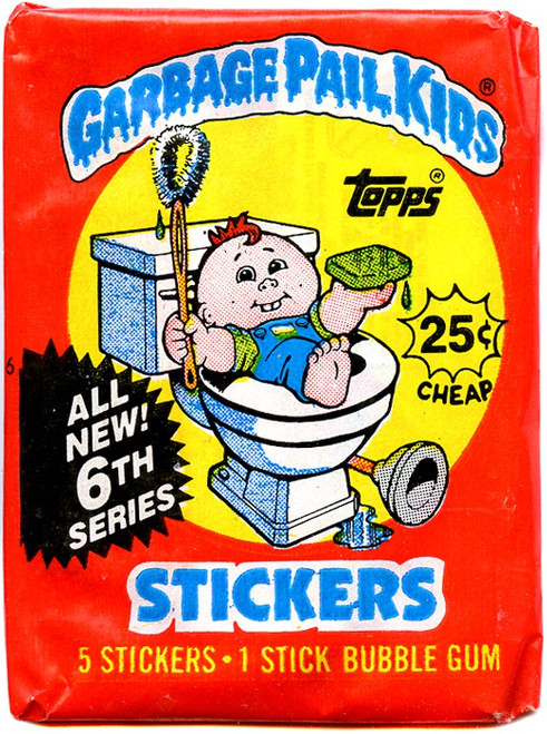 Garbage Pail Kids Topps All New 6th Series Trading Card Sticker Pack [5 Stickers!]