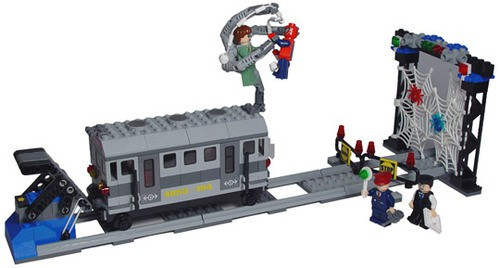 LEGO Spider-Man 2 Spider-Man's Train Rescue Set #4855