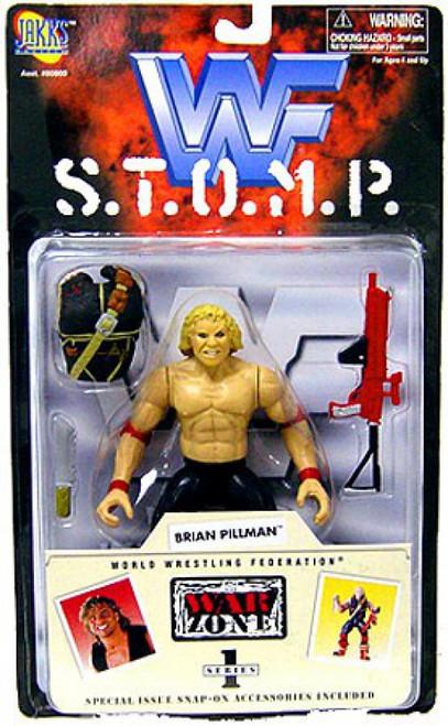 WWE Wrestling WWF S.T.O.M.P. Series 1 Brian Pillman Action Figure