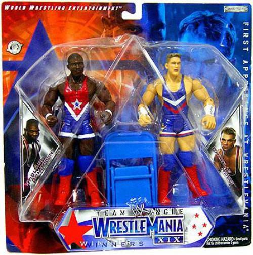 WWE Wrestling WrestleMania 19 Shelton Benjamin & Charlie Haas Action Figure 2-Pack