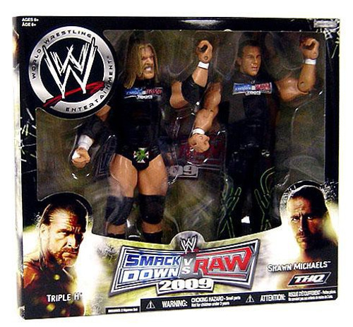 WWE Wrestling Smackdown vs. RAW 2009 Superstars Triple H & Shawn Michaels Action Figure 2-Pack