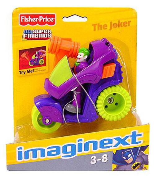 Fisher Price DC Super Friends Imaginext Joker & Motorcycle 3-Inch Figure Set