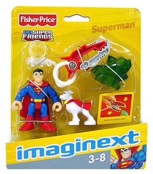 Fisher Price DC Super Friends Imaginext Superman & Krypto Super Dog 3-Inch Mini Figure