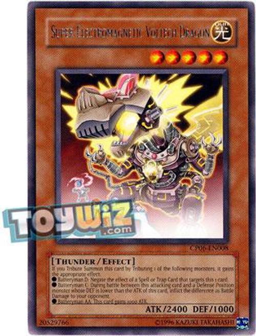 YuGiOh GX Trading Card Game Champion Pack: Game 6 Rare Super-Electromagnetic Voltech Dragon CP06-EN008