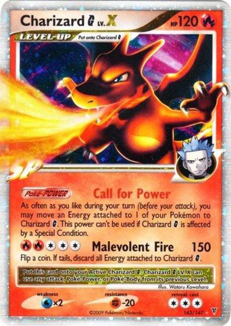 Pokemon Platinum Supreme Victors Ultra Rare Charizard G LV.X #143