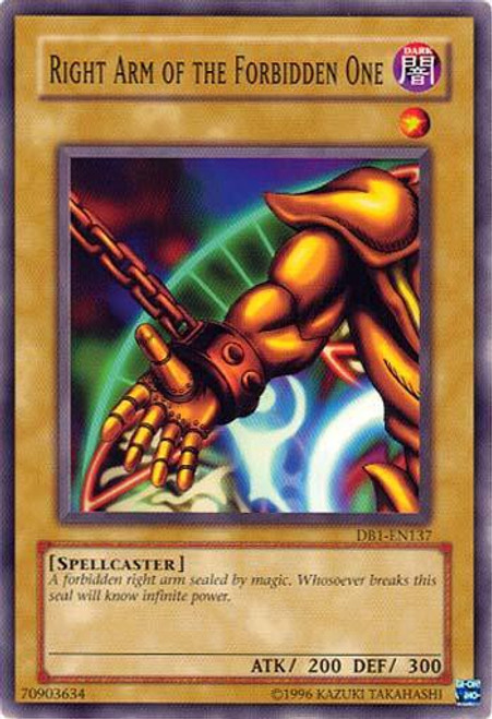 YuGiOh Dark Beginning 1 Common Right Arm of the Forbidden One DB1-EN137