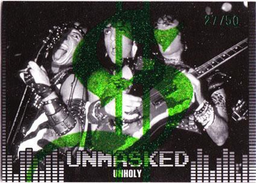 KISS 360 Degrees Insert Card Unmasked Unholy #27/50