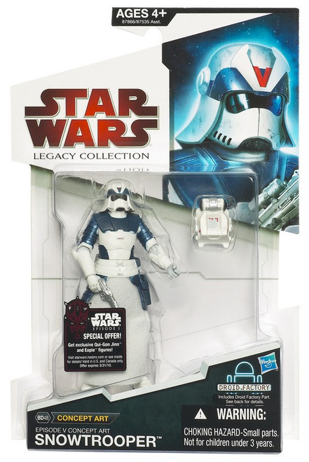 Star Wars Expanded Universe 2009 Legacy Collection Droid Factory Snowtrooper Action Figure BD48 [Concept Art]