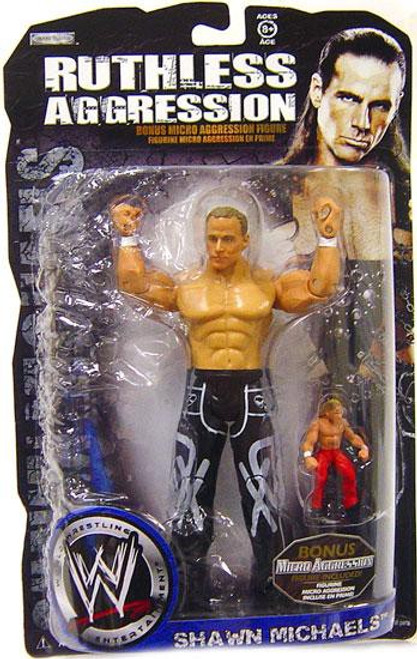 WWE Wrestling Ruthless Aggression Shawn Michaels Action Figure [With Bonus Micro Figure]
