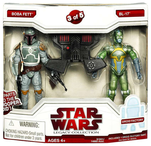 Star Wars Expanded Universe 2009 Legacy Collection Droid Factory Boba Fett & BL-17 Exclusive Action Figure 2-Pack #3 of 5