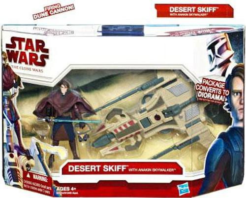 Star Wars The Clone Wars 2010 Desert Sport Skiff with Anakin Skywalker Action Figure & Vehicle