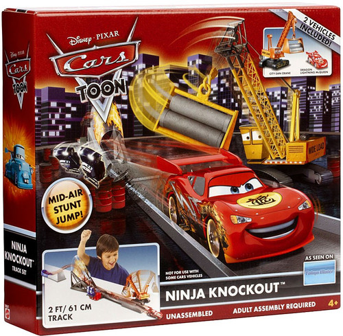 Disney / Pixar Cars Cars Toon Playsets Ninja Knockout Diecast Car Playset