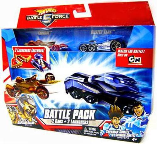 Hot Wheels Battle Force 5 Battle Pack Fangore & Special Battlezone Edition Buster Tank Diecast Car 2-Pack