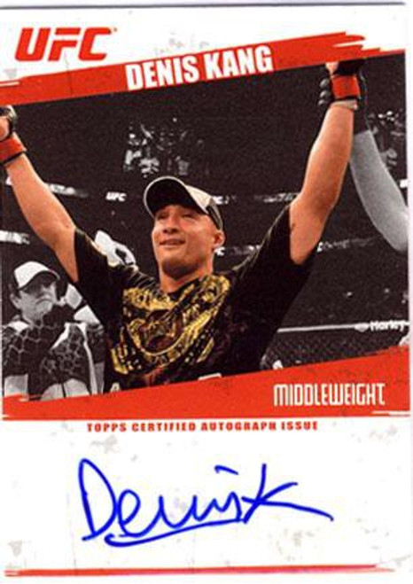 Topps UFC 2009 Round 2 Denis Kang Autographed Card Autograph Card FA-DK