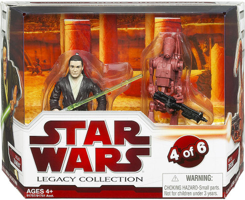 Star Wars Attack of the Clones Legacy Collection 2009 Geonosis Arena Showdown Joclad Danva & Battle Droid Exclusive Action Figure 2-Pack #4 of 6