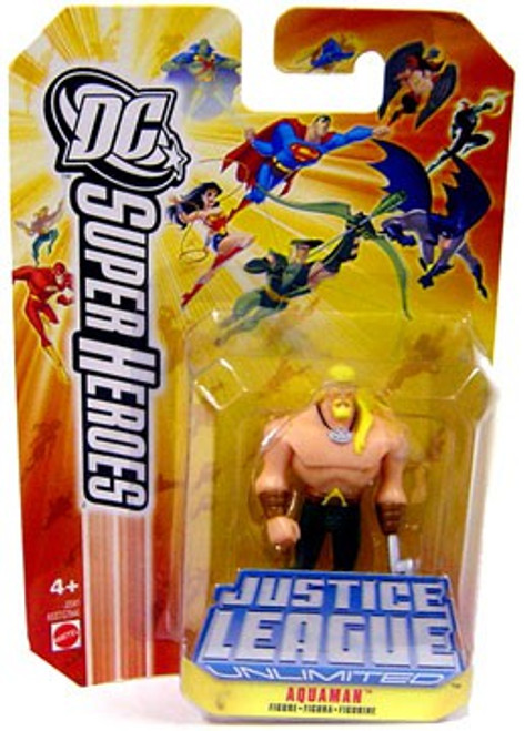 DC Justice League Unlimited Super Heroes Aquaman Action Figure [Yellow Card]