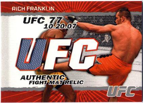 Topps UFC 2009 Round 2 Fight Mat Relic Rich Franklin [UFC 77]