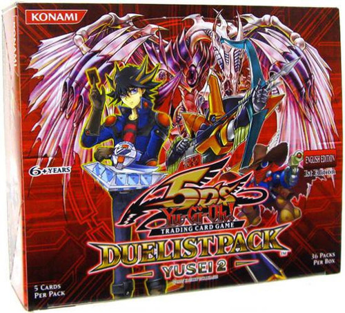 YuGiOh Trading Card Game Duelist Pack Yusei 2 Booster Box [36 Packs]