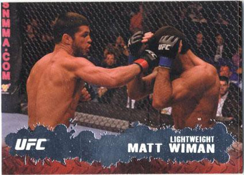 Topps UFC 2009 Round 2 Fighter Matt Wiman #10