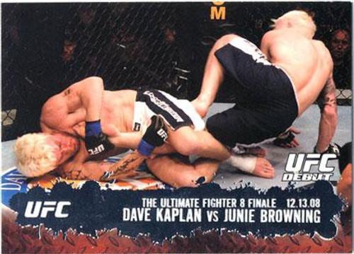 Topps UFC 2009 Round 2 Fighter Dave Kaplan #110