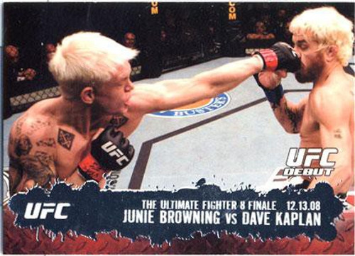 Topps UFC 2009 Round 2 Fighter Junie Browning #116