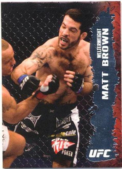 Topps UFC 2009 Round 2 Fighter Matt Brown #41
