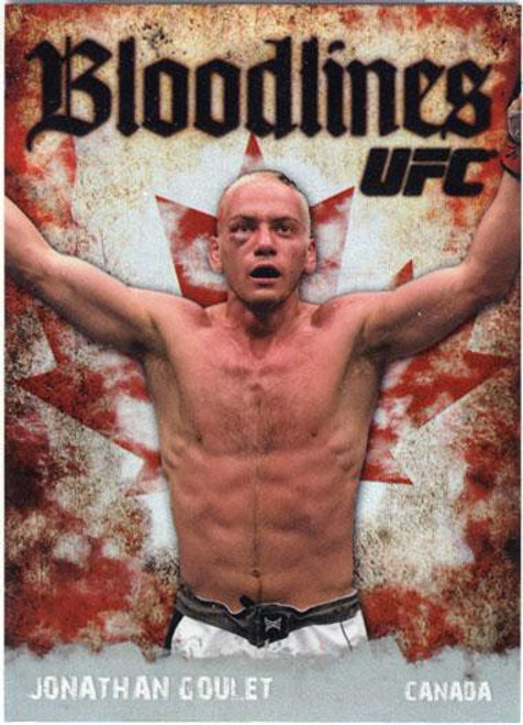 Topps UFC 2009 Round 2 Bloodlines Jonathan Goulet BL-17