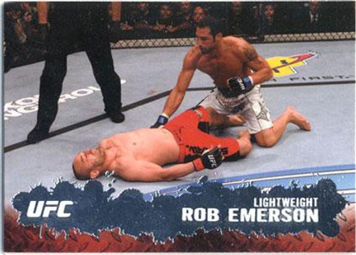 Topps UFC 2009 Round 2 Fighter Rob Emerson #78