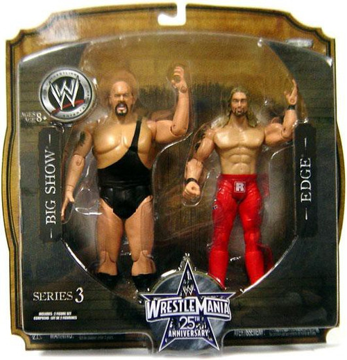 WWE Wrestling WrestleMania 25 Series 3 Big Show & Edge Action Figure 2-Pack