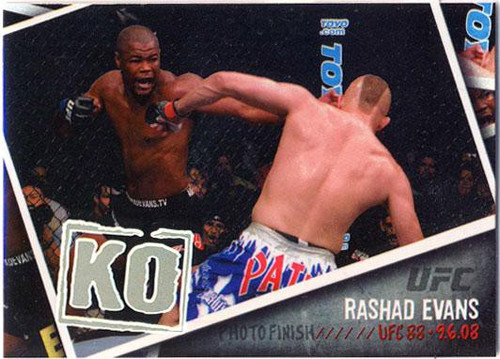 Topps UFC 2009 Round 2 Photo Finish Rashad Evans PF-3
