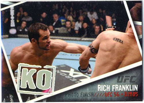 Topps UFC 2009 Round 2 Photo Finish Rich Franklin PF-12