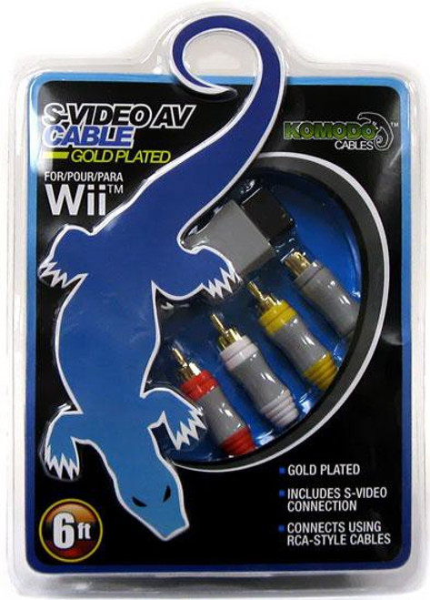 Nintendo Wii Gold Plated S-Video AV Cable