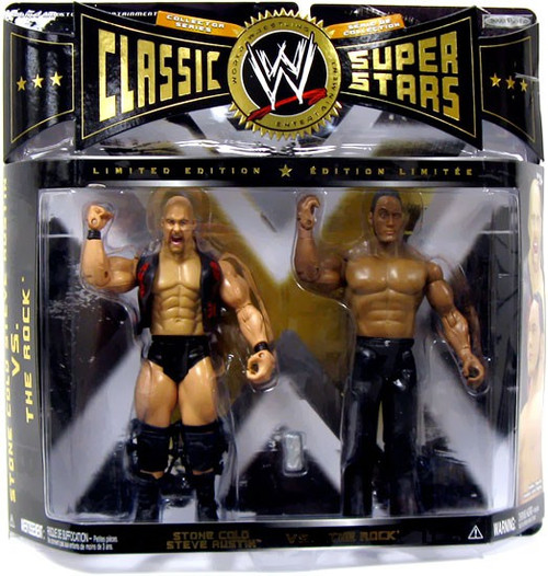 WWE Wrestling Classic Superstars Stone Cold Steve Austin & The Rock Action Figure 2-Pack
