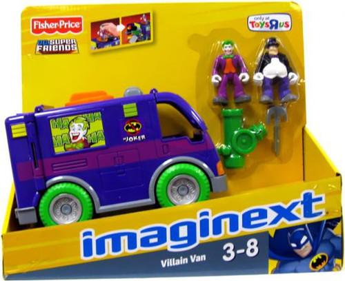 Fisher Price DC Super Friends Imaginext Villain Van Exclusive 3-Inch Figure Set