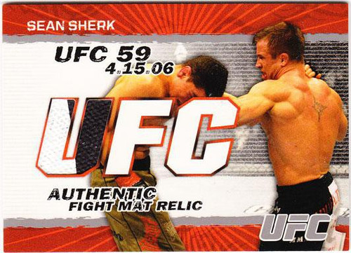 Topps UFC 2009 Round 2 Fight Mat Relic Sean Sherk [UFC 59]