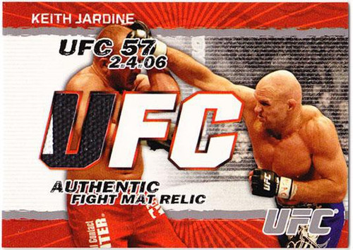 Topps UFC 2009 Round 2 Fight Mat Relic Keith Jardine [UFC 57]