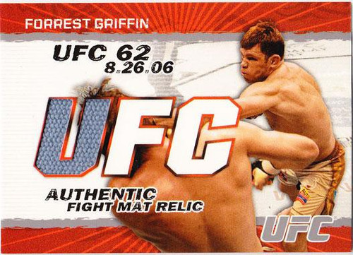 Topps UFC 2009 Round 2 Fight Mat Relic Forrest Griffin [UFC 62]