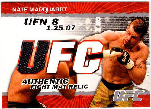 Topps UFC 2009 Round 2 Fight Mat Relic Nate Marquardt [UFN 8]