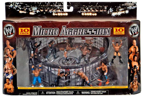 WWE Wrestling Micro Aggression Figure 10-Pack