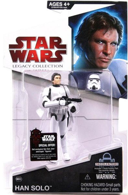 Star Wars A New Hope 2009 Legacy Collection Droid Factory Han Solo Action Figure BD02 [Stormtrooper Disguise]