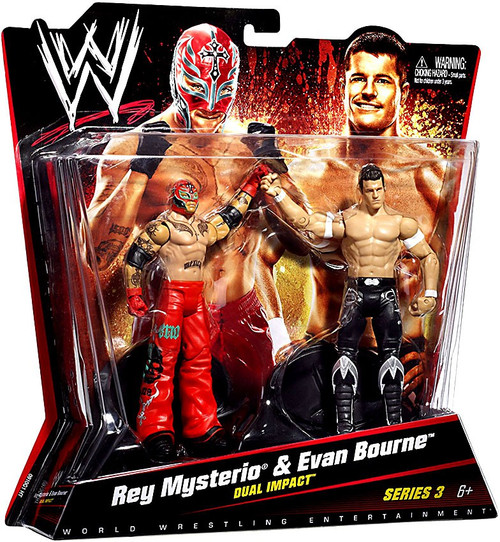 WWE Wrestling Battle Pack Series 3 Rey Mysterio & Evan Bourne Action Figure 2-Pack