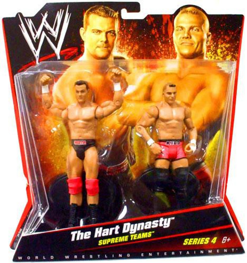 WWE Wrestling Battle Pack Series 4 The Hart Dynasty Action Figure 2-Pack