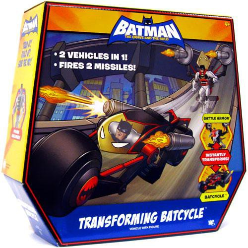 Batman The Brave and the Bold Transforming Batcycle Action Figure Set
