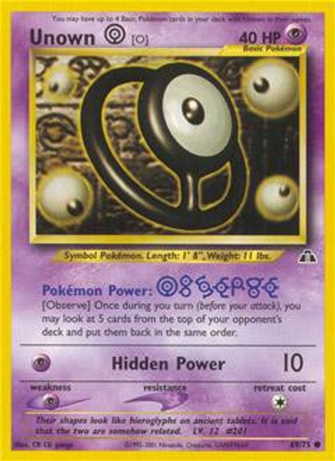 Pokemon Neo Discovery Common Unown [O] #69