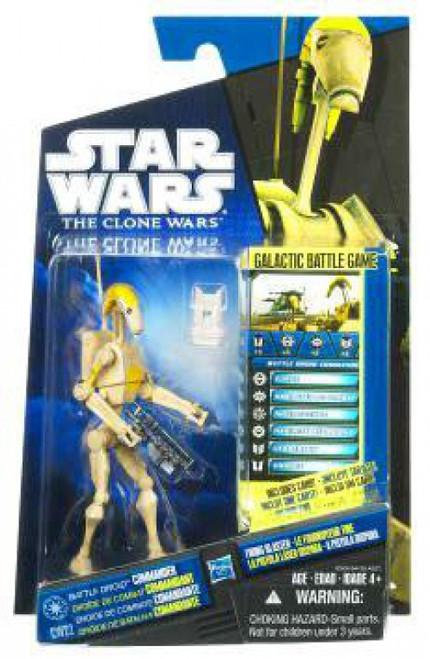 Star Wars The Clone Wars 2010 Battle Droid Commander Action Figure CW22