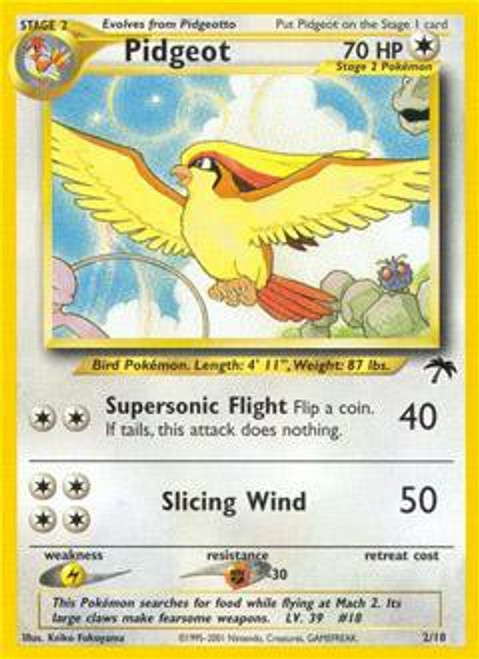 Pokemon Southern Islands Promo Pidgeot #2