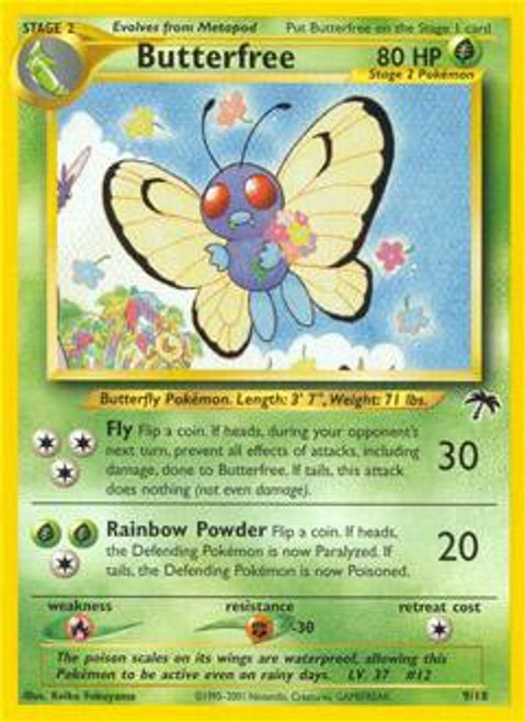 Pokemon Southern Islands Common Butterfree #9